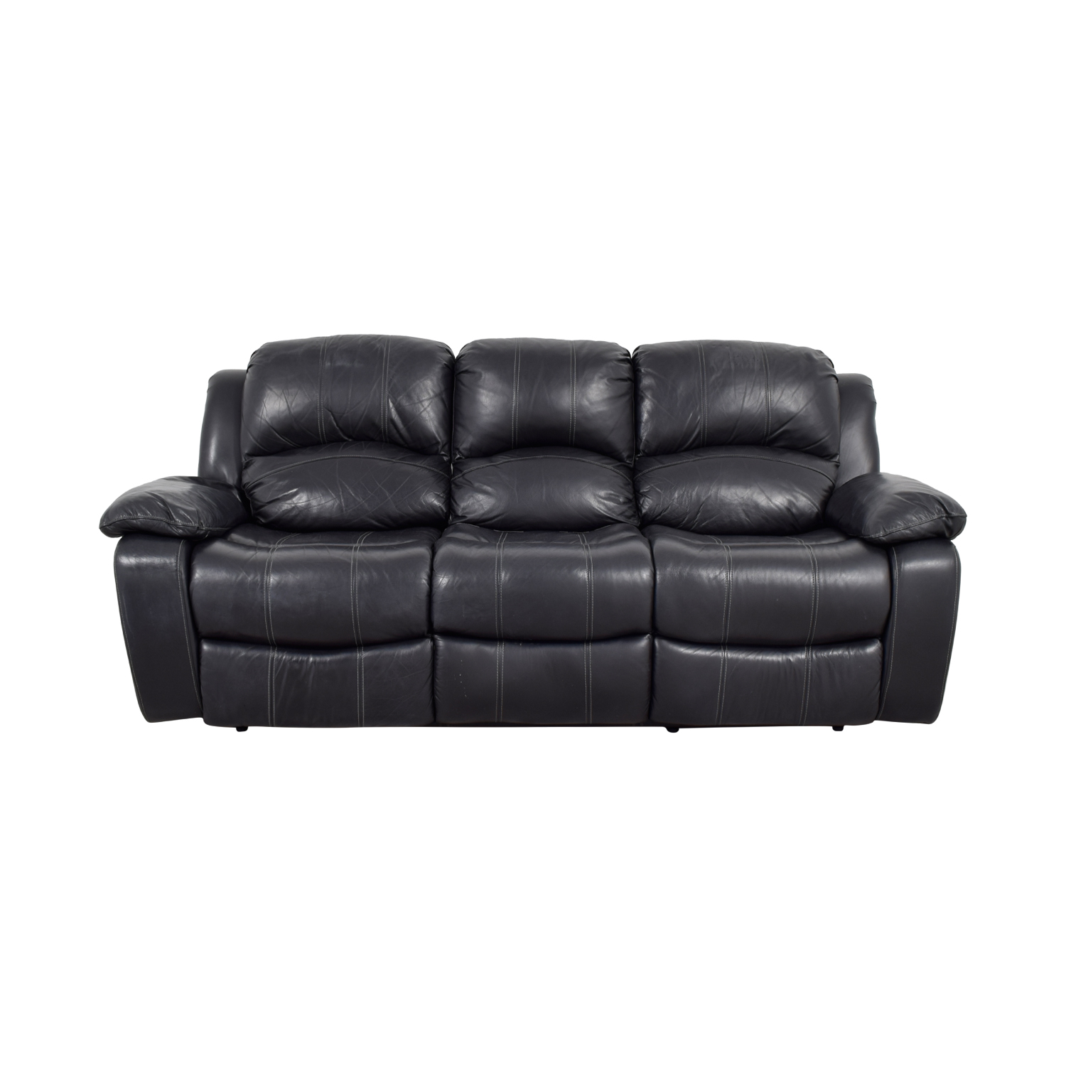 real leather with recliner sofa rec