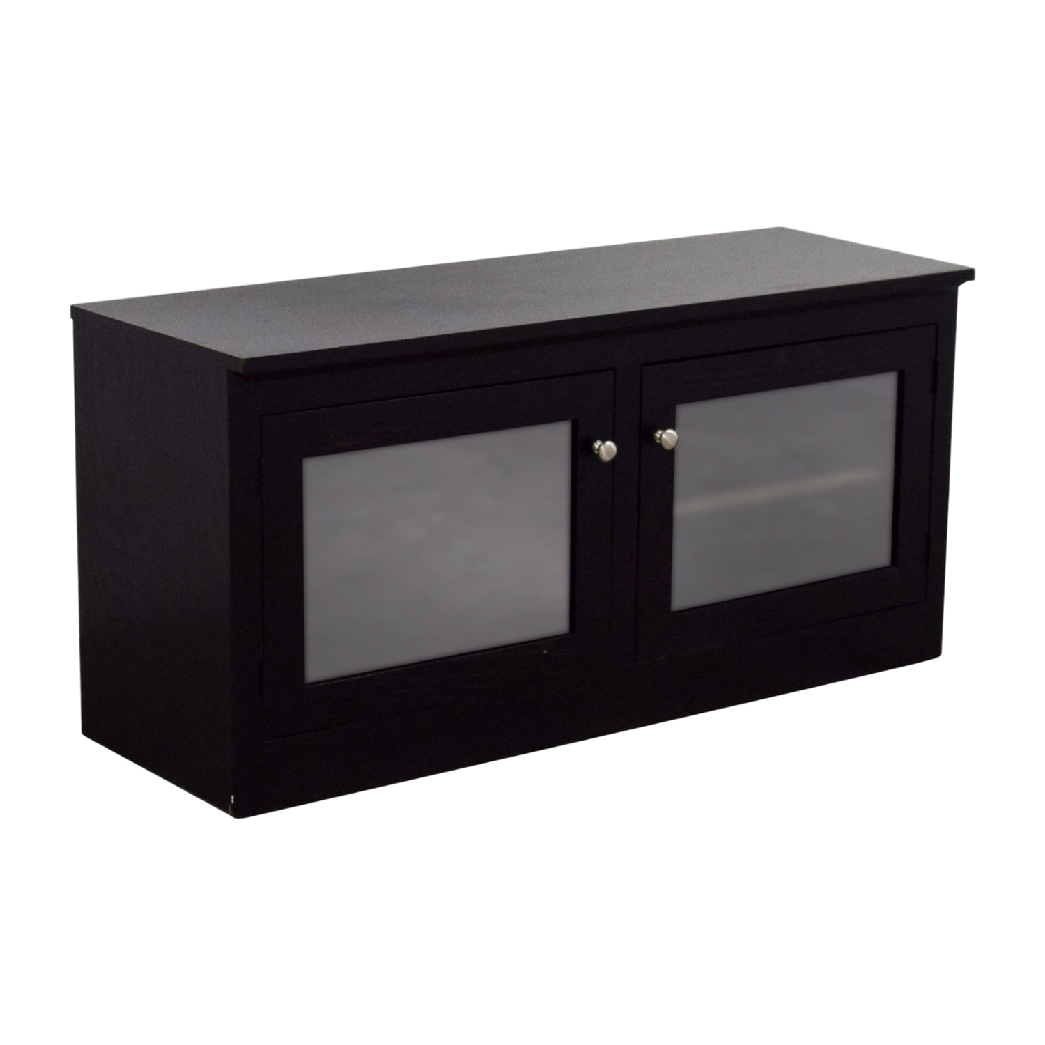 Crate & Barrel Crate & Barrel Glass and Wood TV Media Console Storage