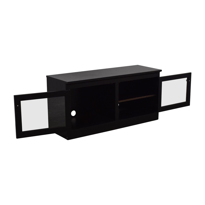 82 Off Crate Amp Barrel Crate Amp Barrel Glass And Wood Tv