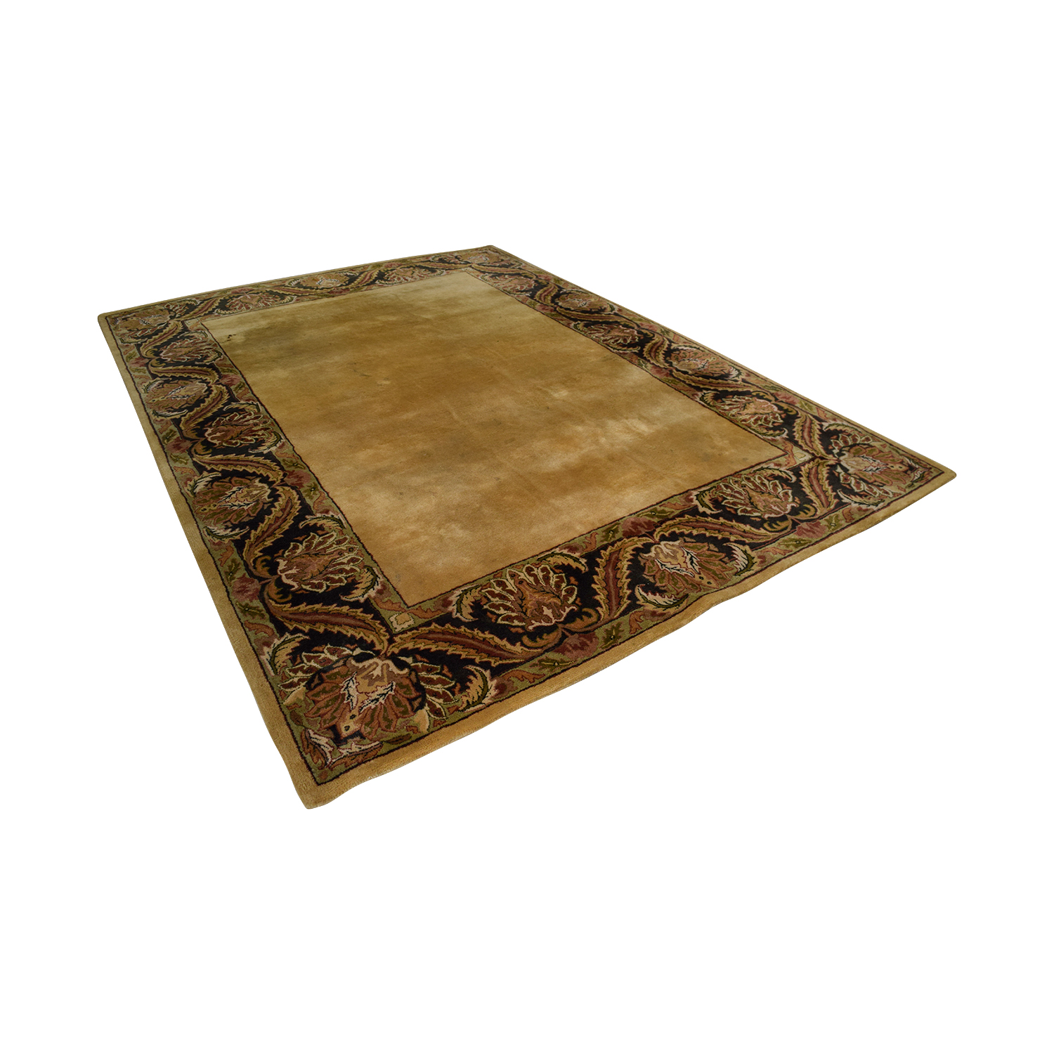 Capel Capel Tan with Multi-Colored Border Wool Rug price