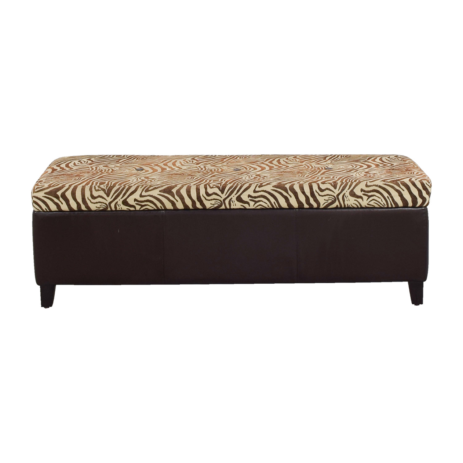 Pier 1 Imports Pier 1 Imports Brown Zebra Storage Trunk second hand