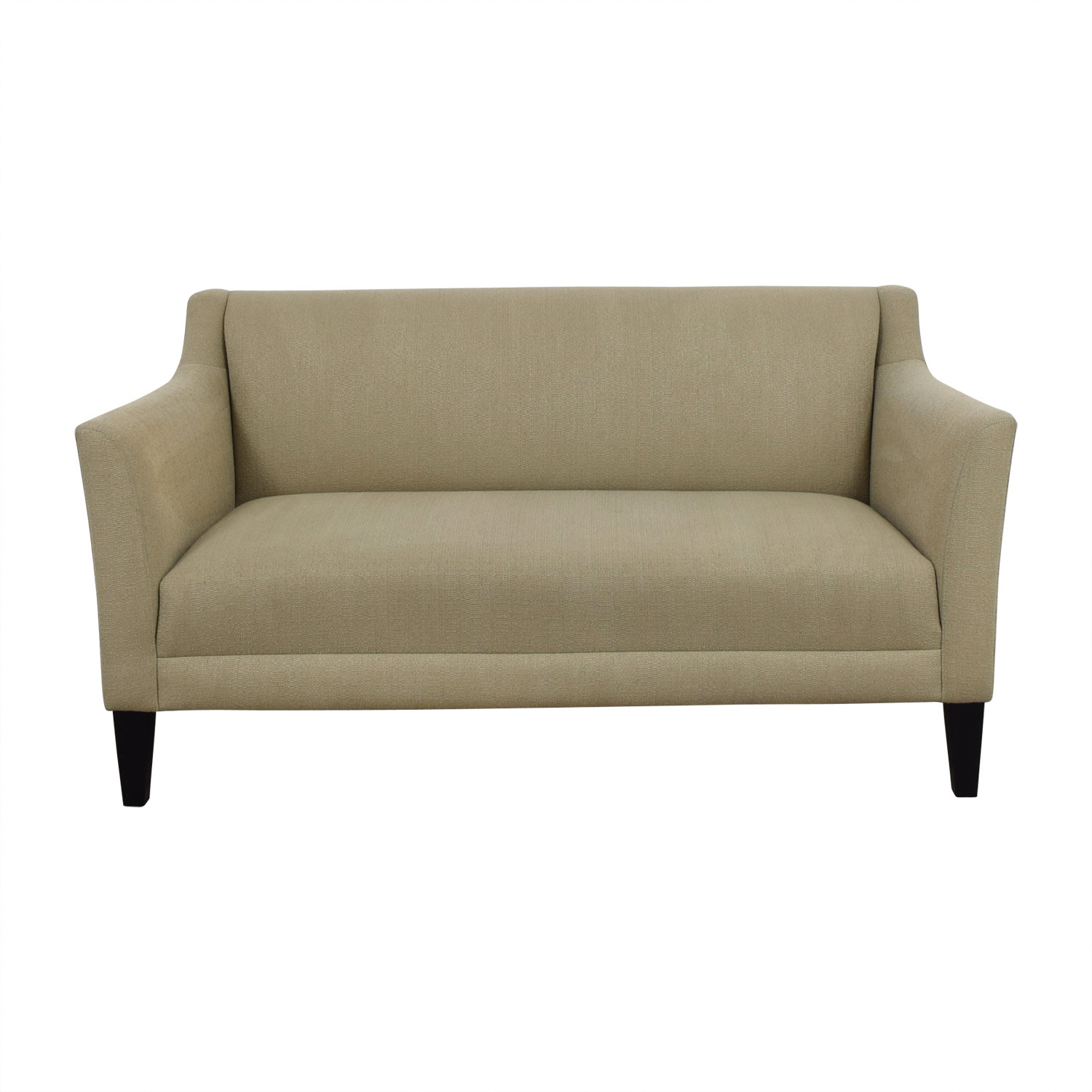 buy Crate & Barrel Margot Platinum Beige Loveseat Crate & Barrel