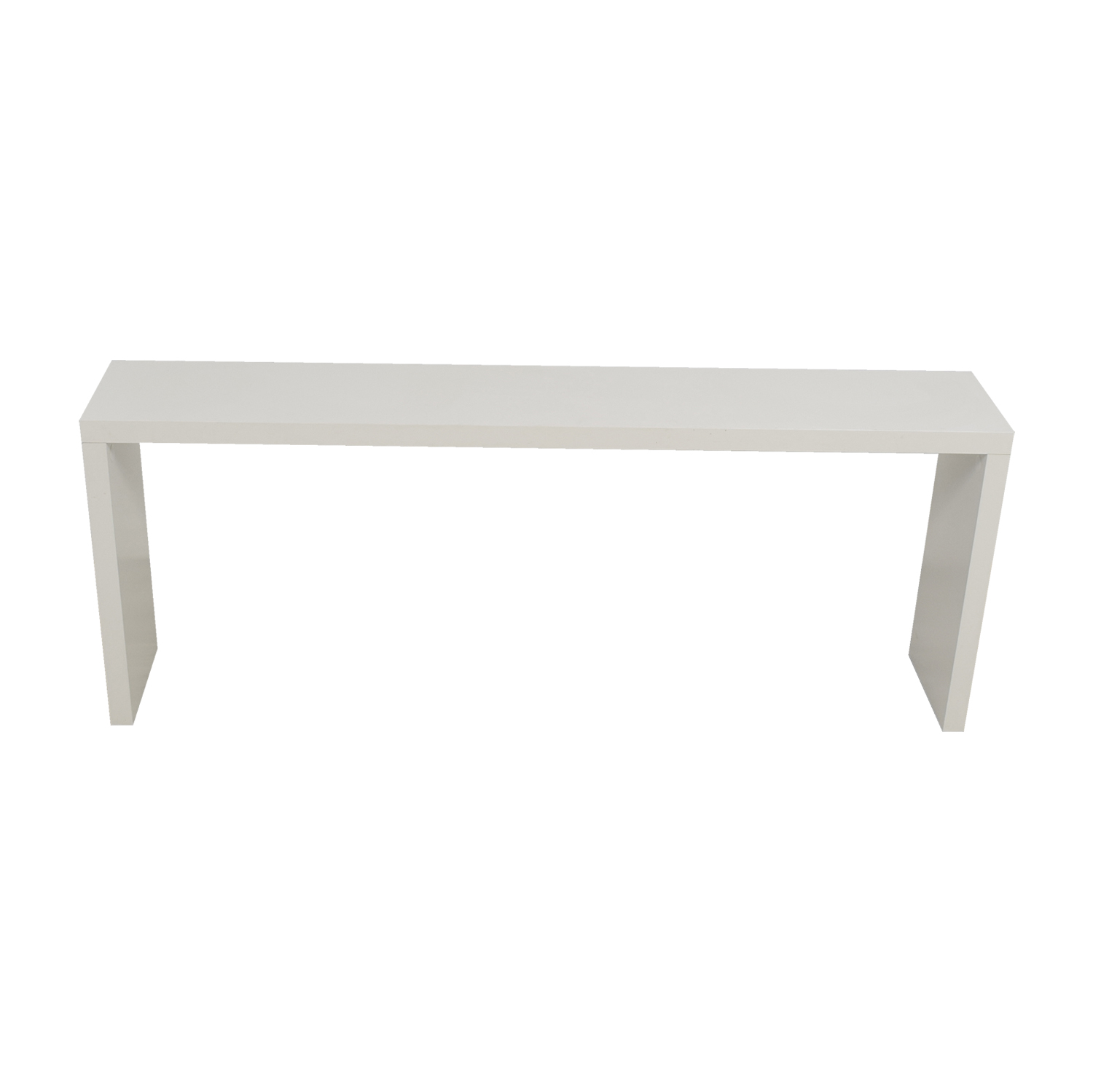 Fells Fells White Narrow Console Table nyc