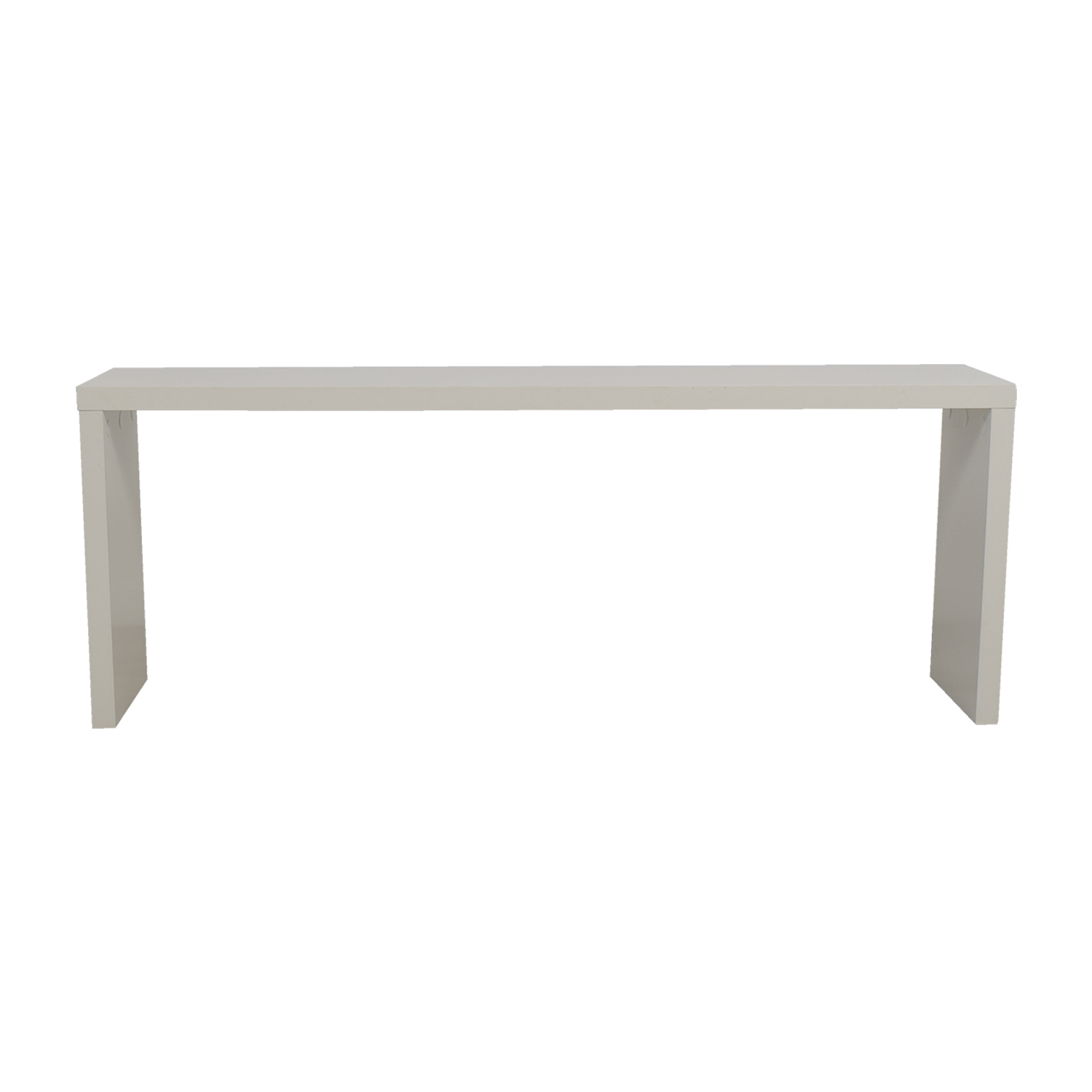 shop Fells White Narrow Console Table Fells