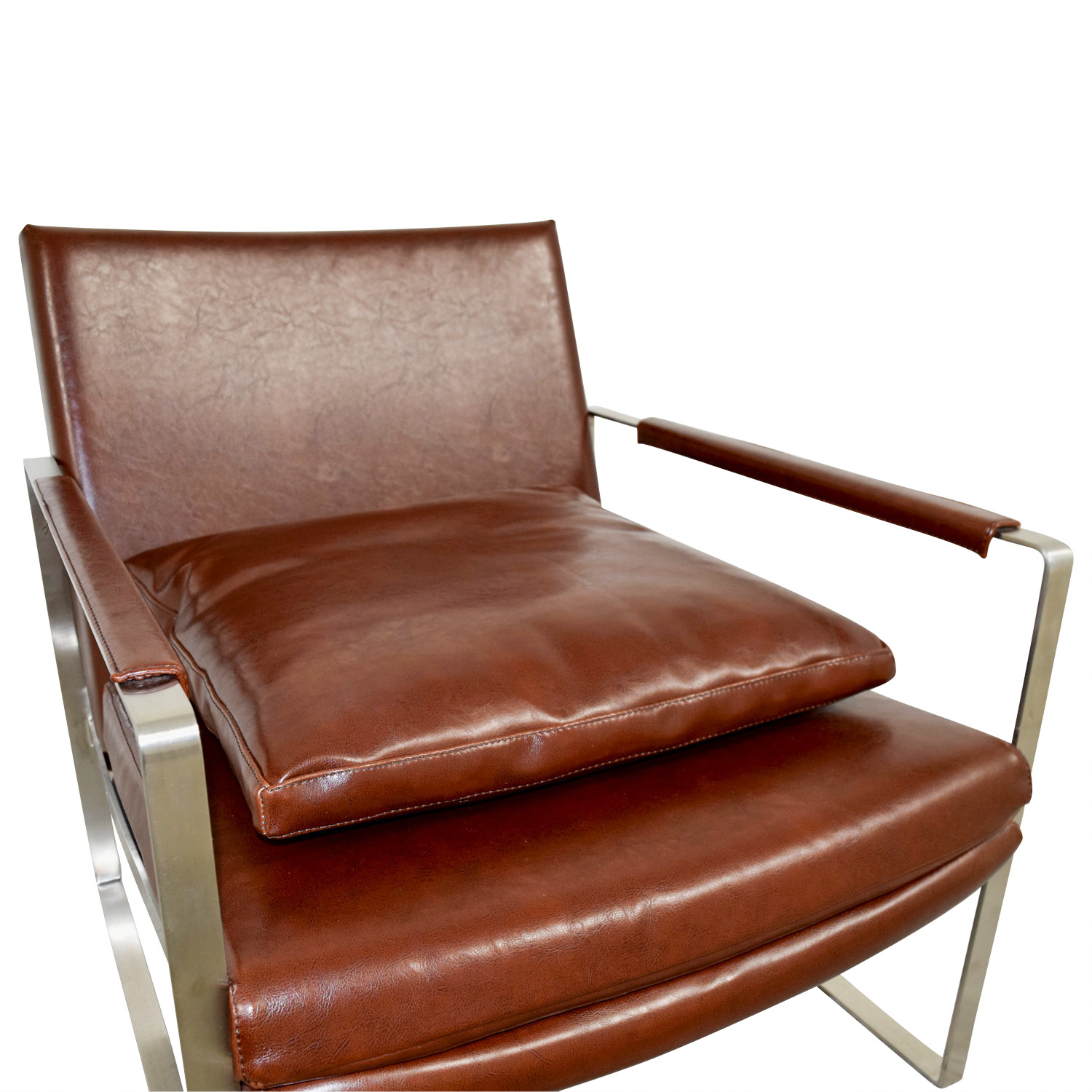 ... Buy Soho Concept Soho Concept Zara Brown And Chrome Accent Chair Online