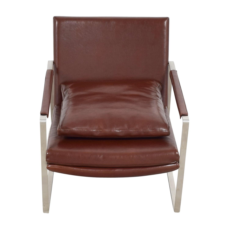 ... Shop Soho Concept Zara Brown And Chrome Accent Chair Soho Concept Accent  Chairs ...