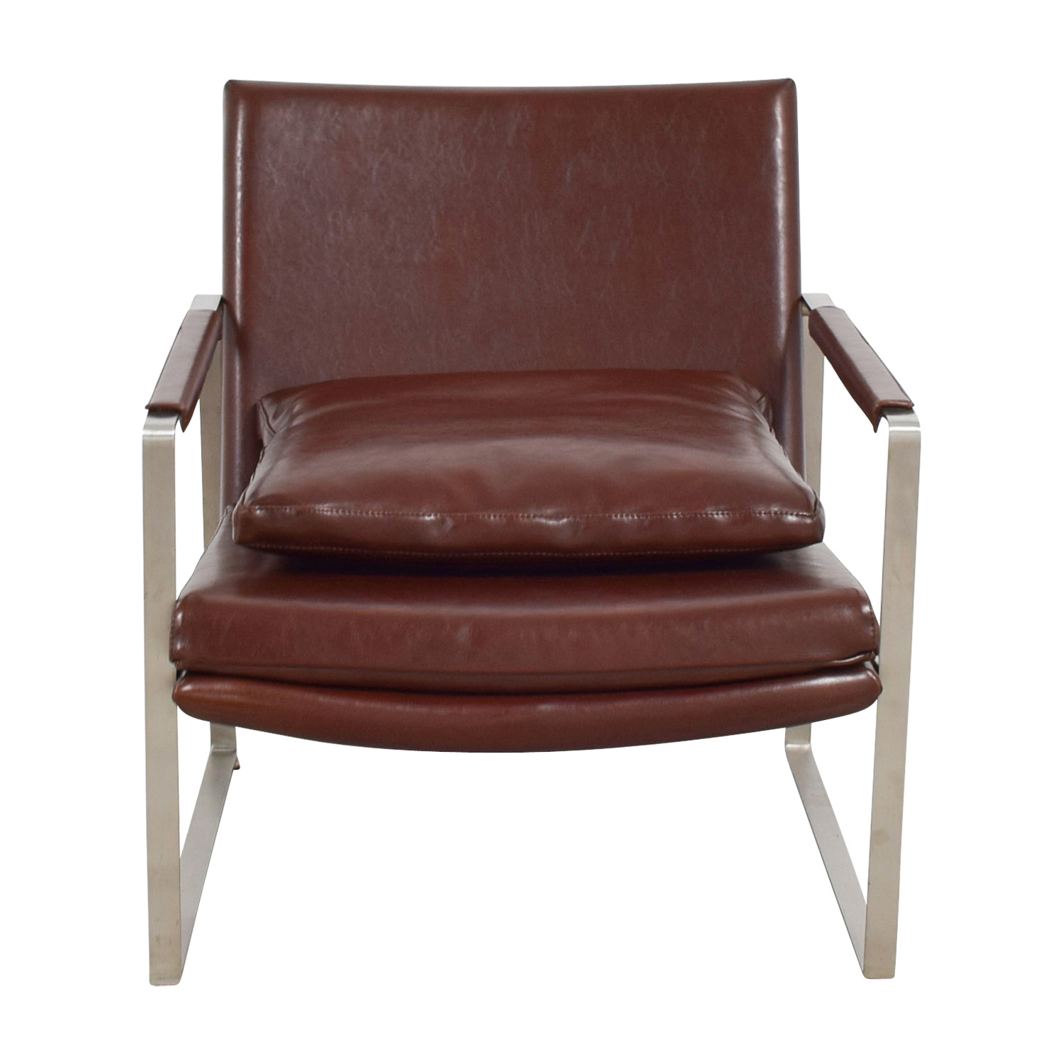 Soho Concept Soho Concept Zara Brown And Chrome Accent Chair Price ...