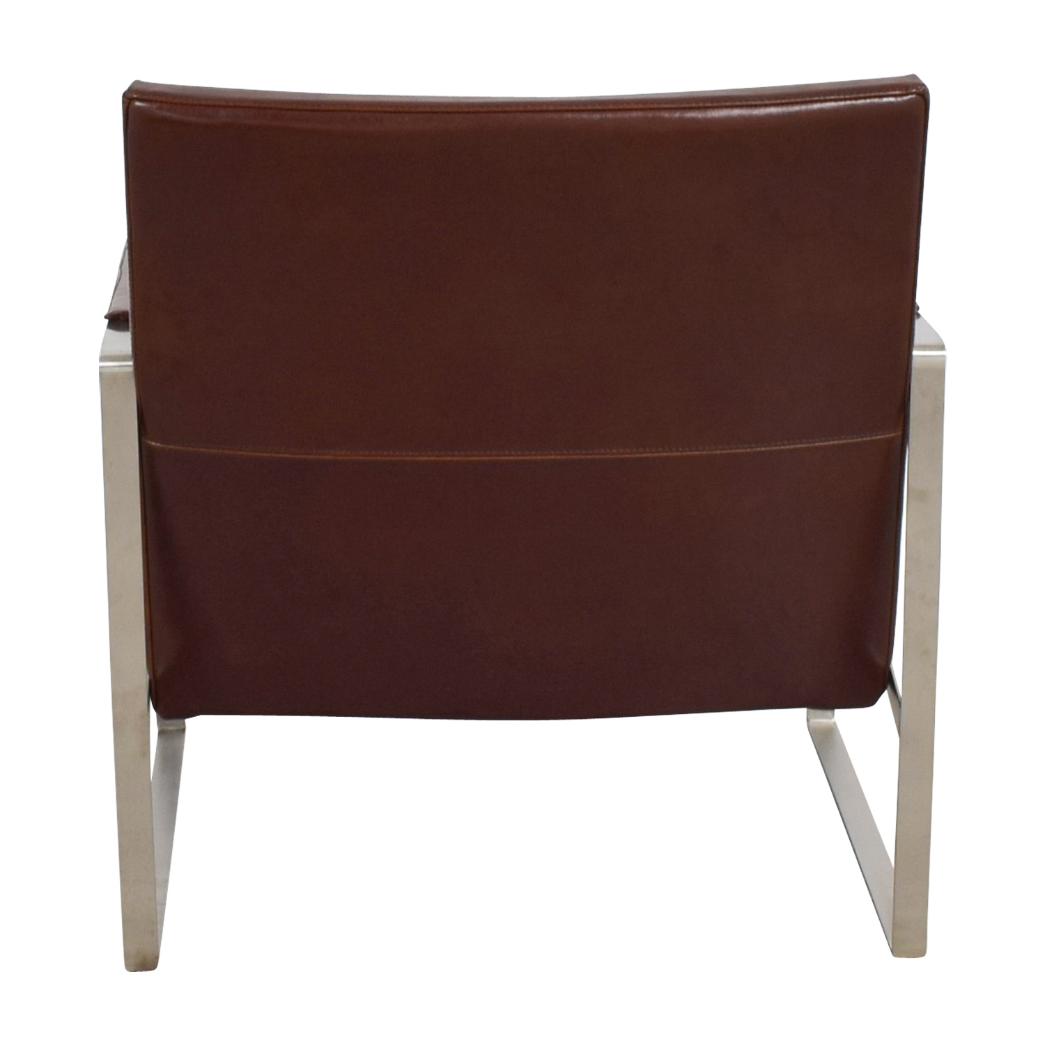 Soho Concept Soho Concept Zara Brown and Chrome Accent Chair used