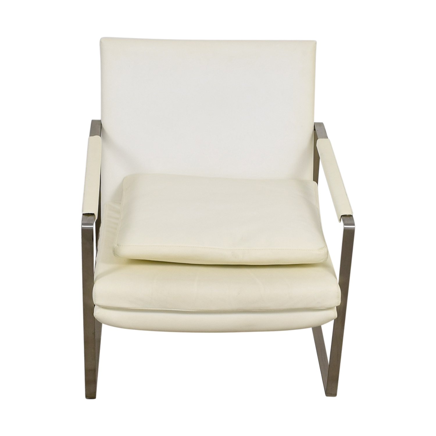 ... Zara Soho Concept Zara Soho Concept White And Chrome Accent Chair With  Pillow Dimensions ...
