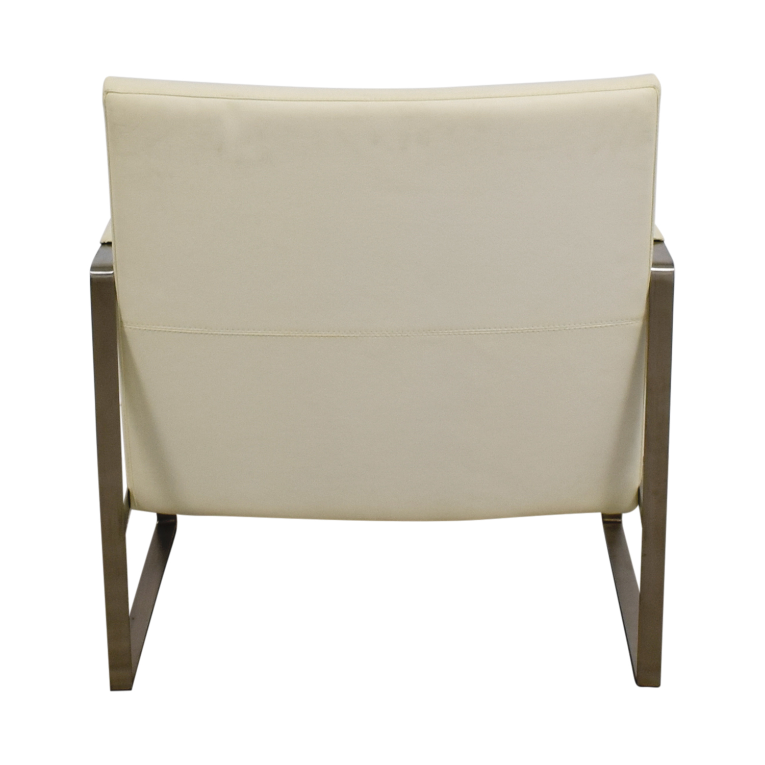 Zara Soho Concept Zara Soho Concept White and Chrome Accent Chair with Pillow on sale