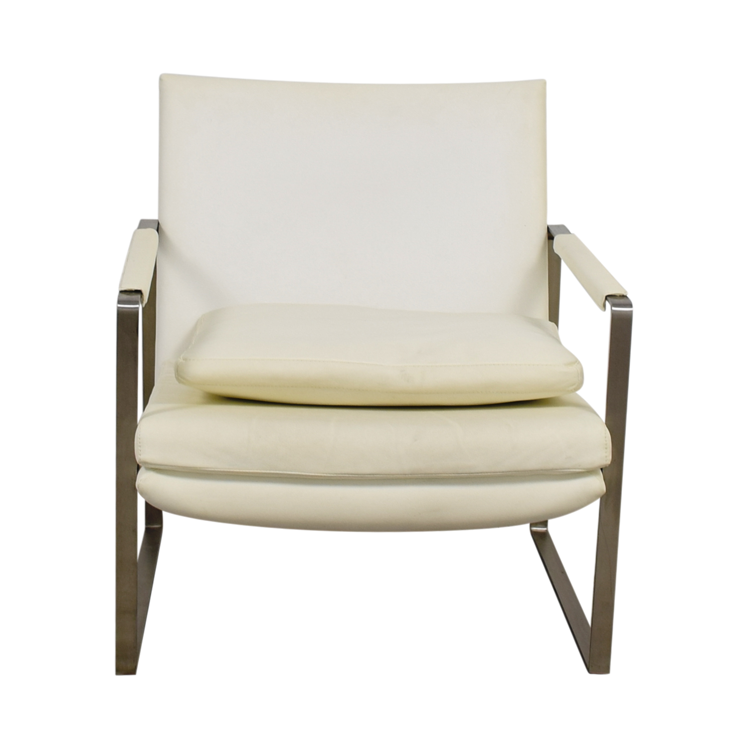 Zara Soho Concept Zara Soho Concept White and Chrome Accent Chair with Pillow price