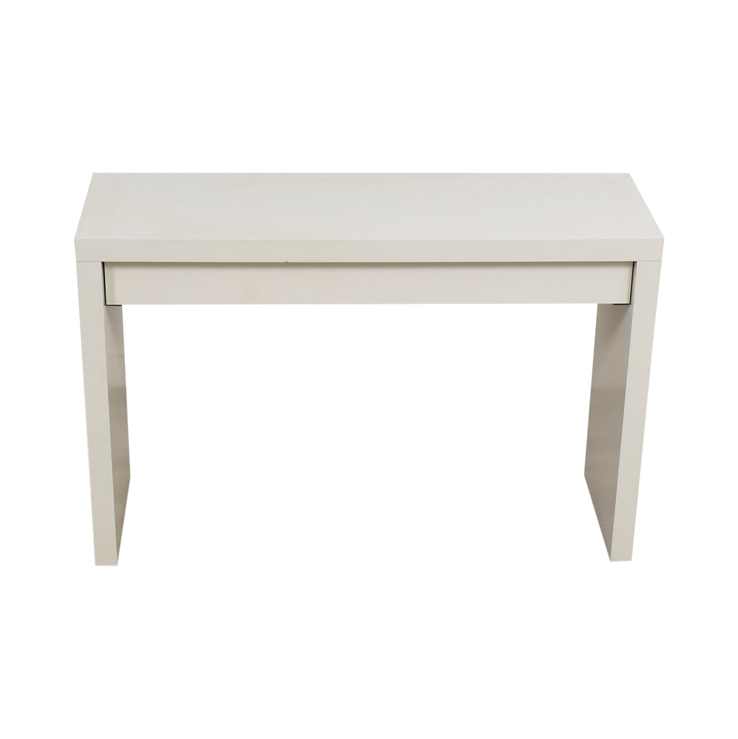 Beau 54% OFF   IKEA IKEA Malm White Single Drawer Narrow Desk Or Table / Tables