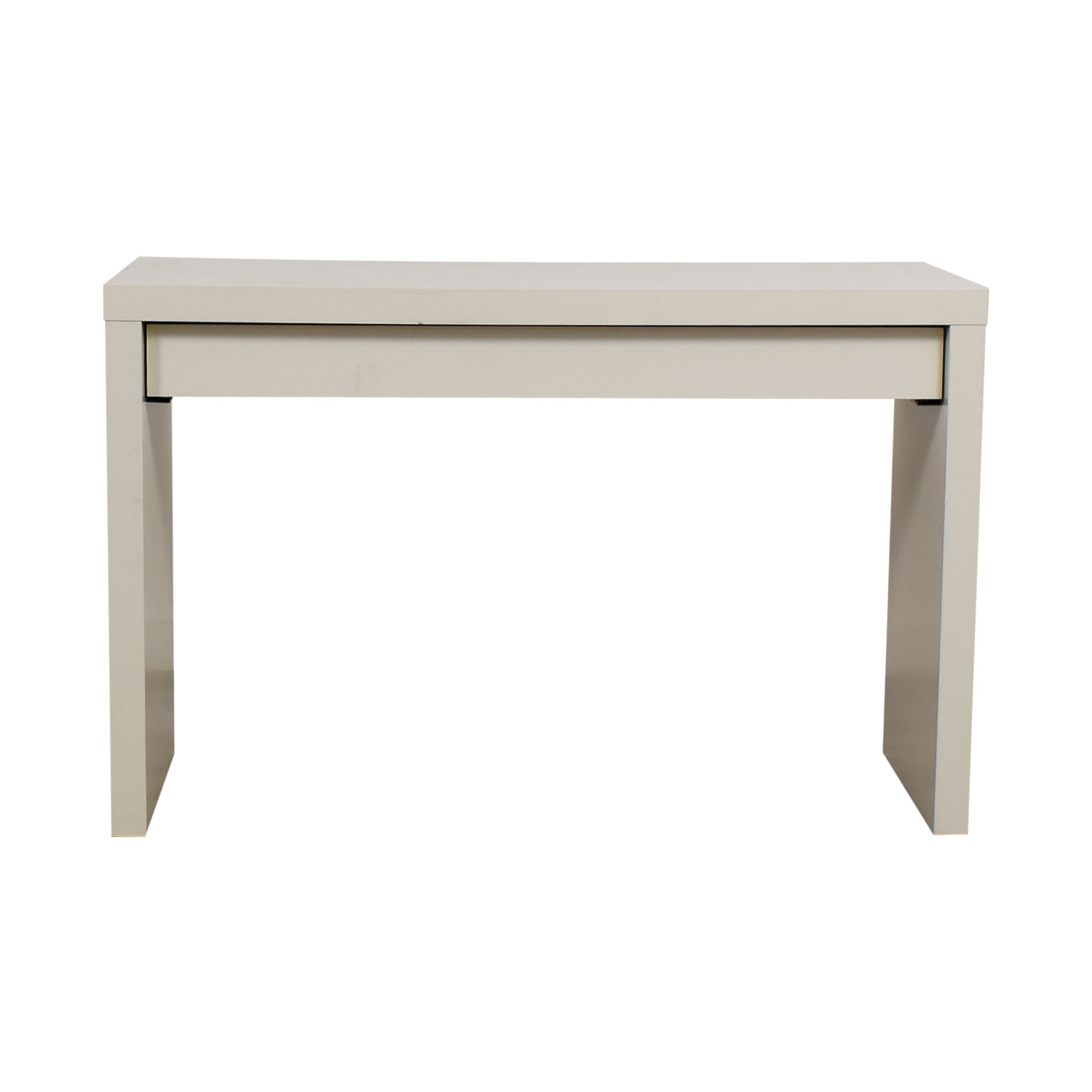 IKEA IKEA Malm White Single Drawer Narrow Desk or Table used