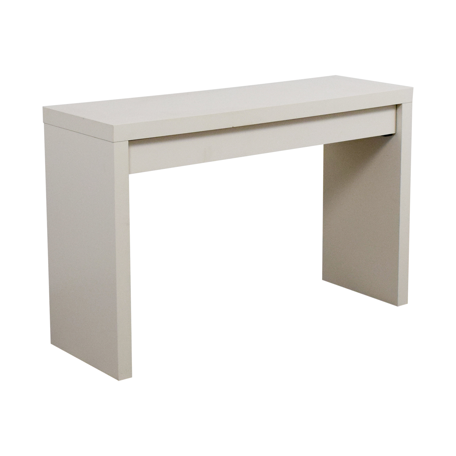 54 off ikea ikea malm white single drawer narrow desk or table tables. Black Bedroom Furniture Sets. Home Design Ideas