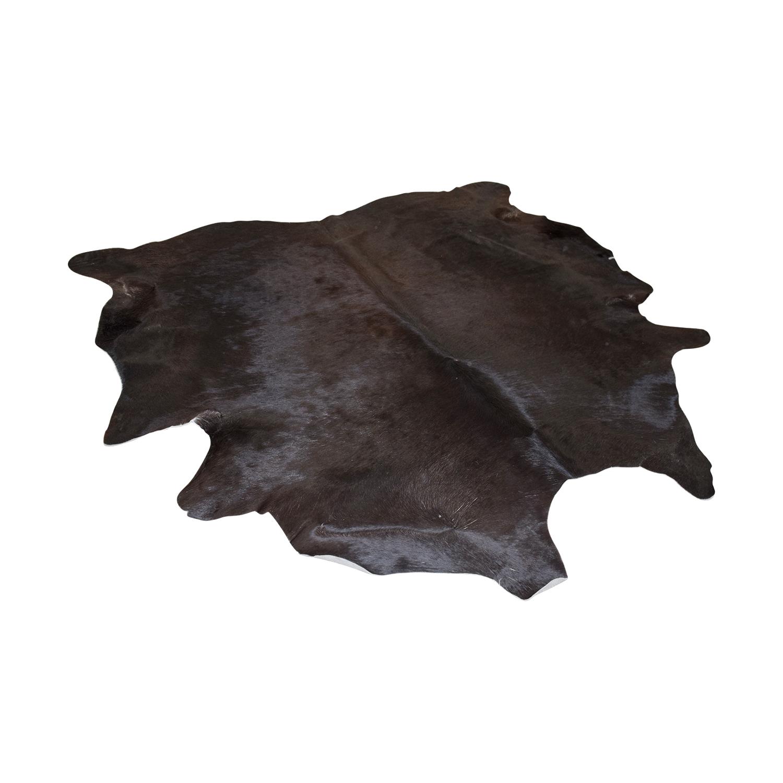 Ecowhide Ecowhide Black Cowhide Rug dimensions