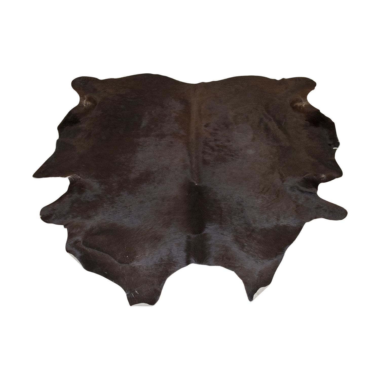 Ecowhide Black Cowhide Rug / Rugs