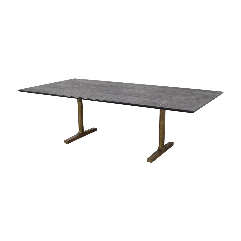 Superb Used Trestle Tables #8 - ... BDDW BDDW Bronze Trestle Table Discount ...