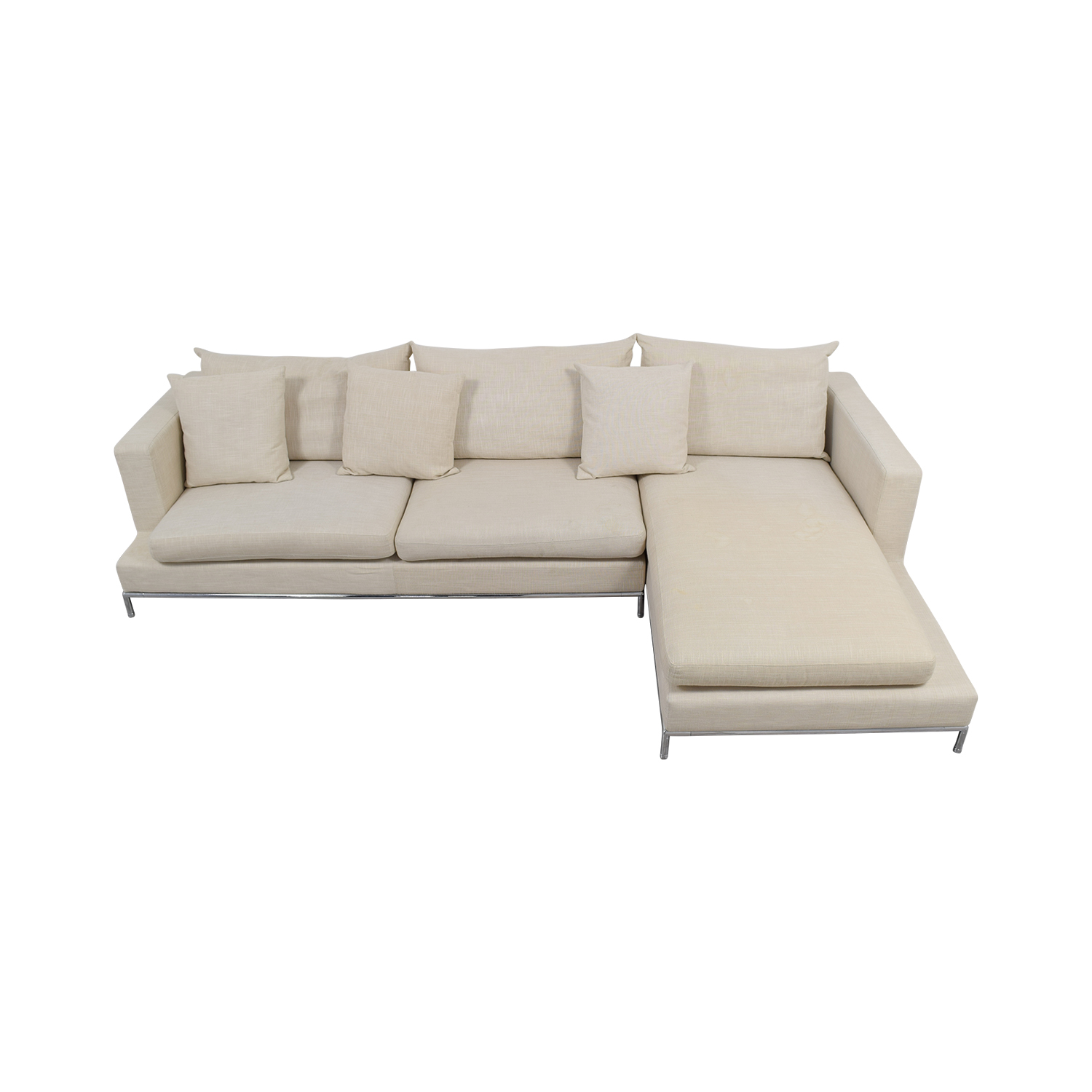 buy SohoConcept Simena Beige Chaise Sectional SohoConcept Sectionals