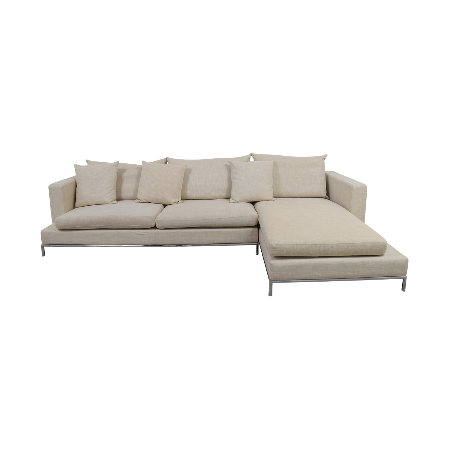 SohoConcept SohoConcept Simena Beige Chaise Sectional Sectionals