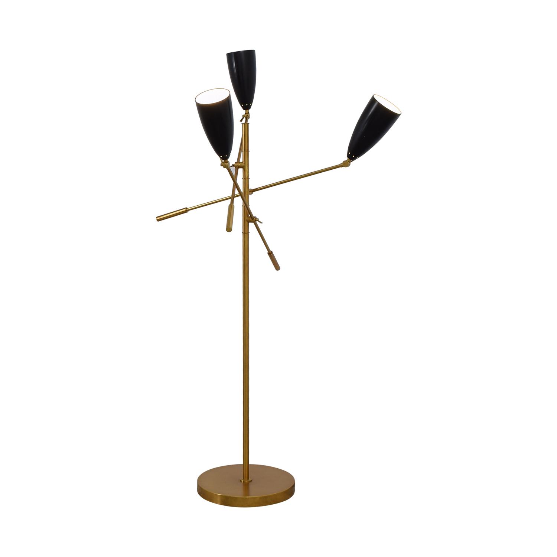 62 off west elm west elm gold and black floor lamp decor. Black Bedroom Furniture Sets. Home Design Ideas