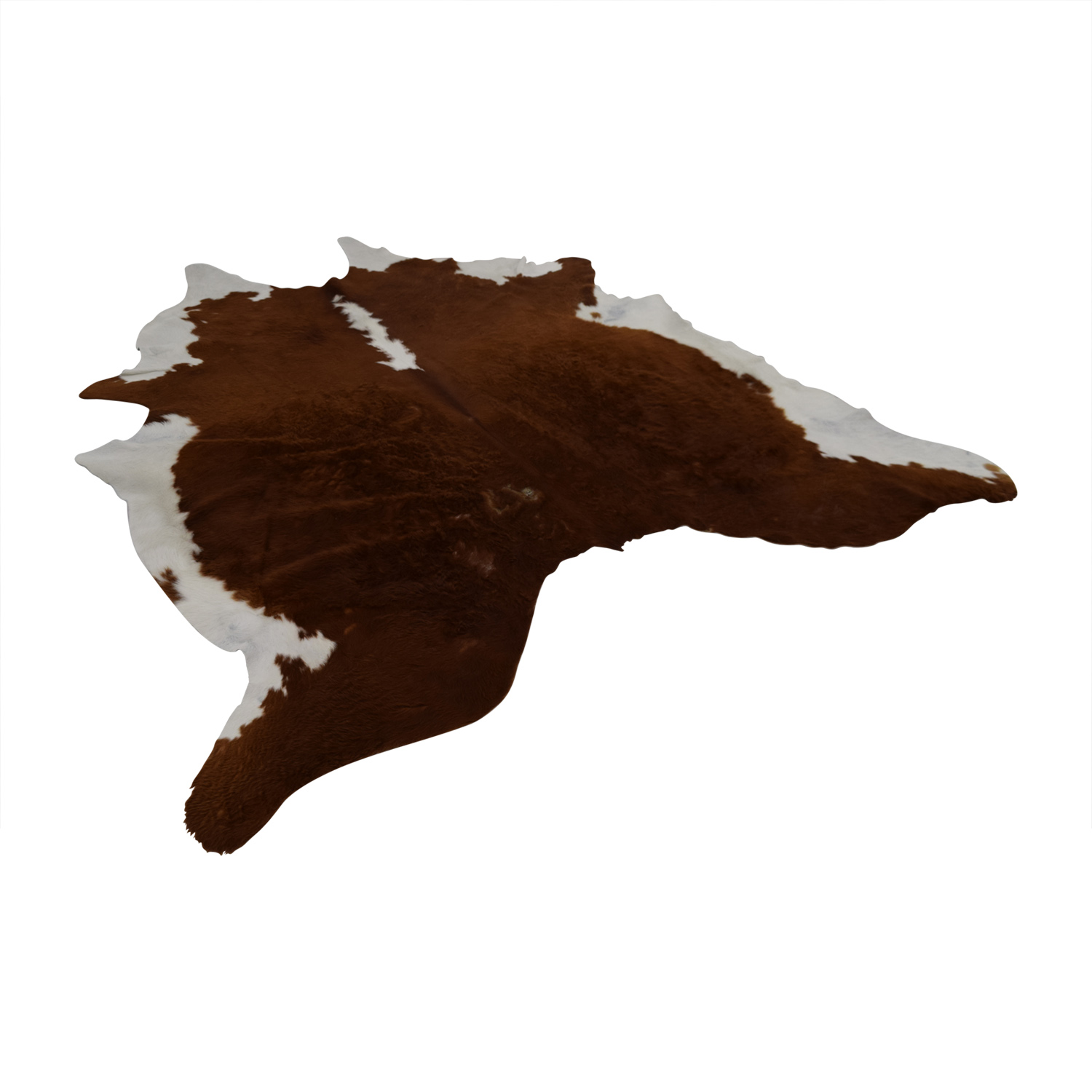 shop Ecowhides Cowhide Brown and White Rug Ecowhides Decor