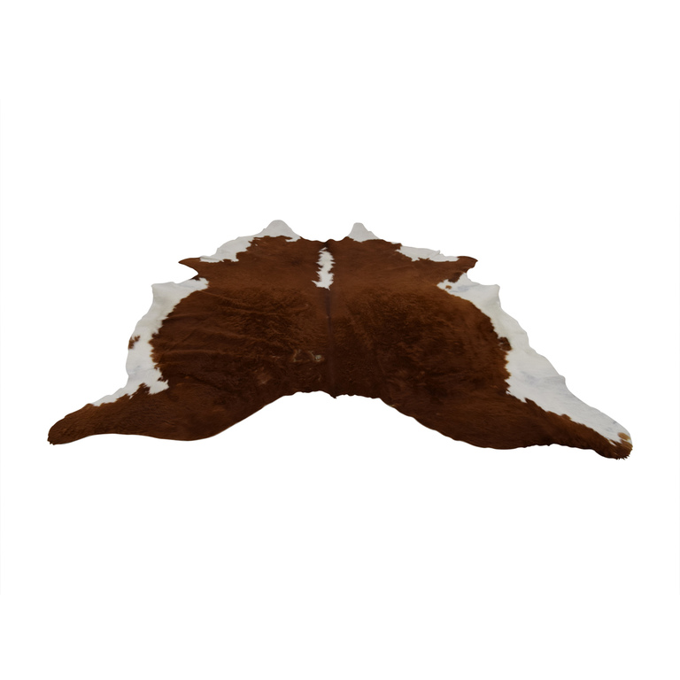 buy Ecowhides Cowhide Brown and White Rug Ecowhides