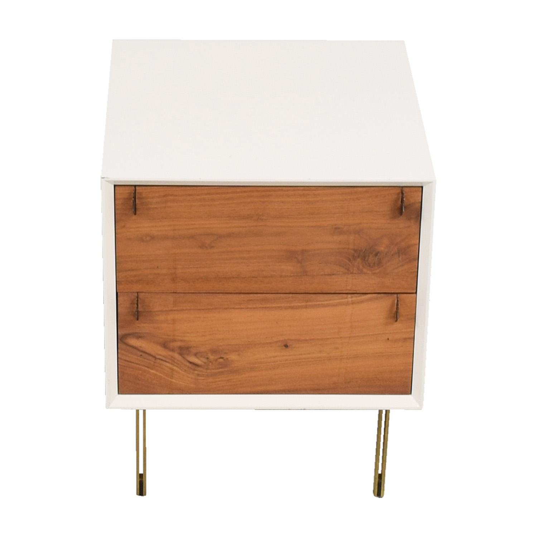 Organic Modernism Organic Modernism White Two-Drawer Side Table nyc