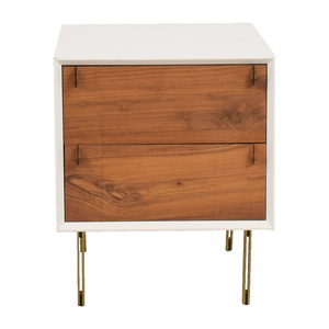 Organic Modernism Organic Modernism White Two-Drawer Side Table for sale