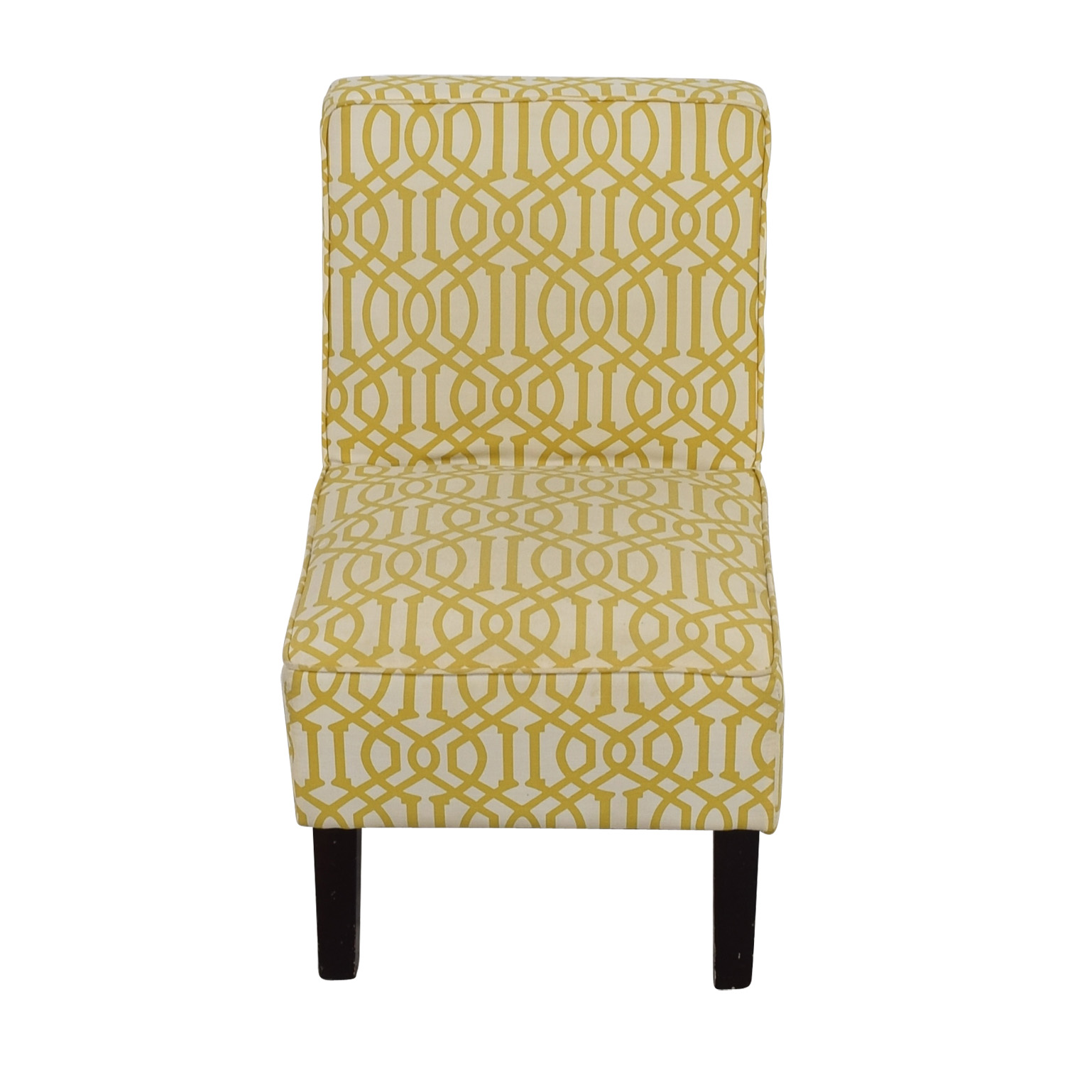 Yellow and White Accent Chair used