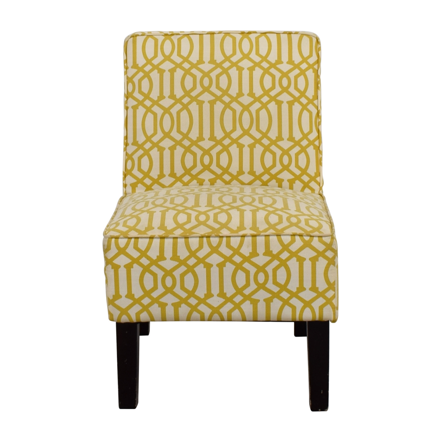 shop Yellow and White Accent Chair online