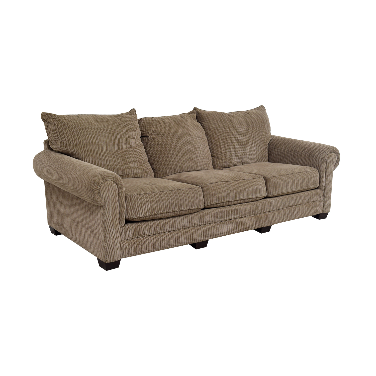 Tan Three-Cushion Couch