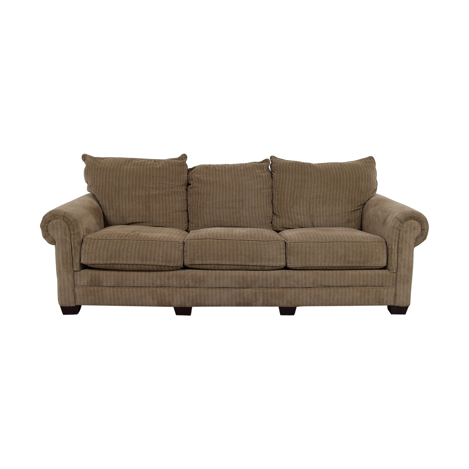 buy Tan Three-Cushion Couch Sofas
