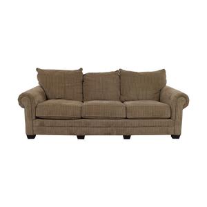 shop Tan Three-Cushion Couch  Sofas