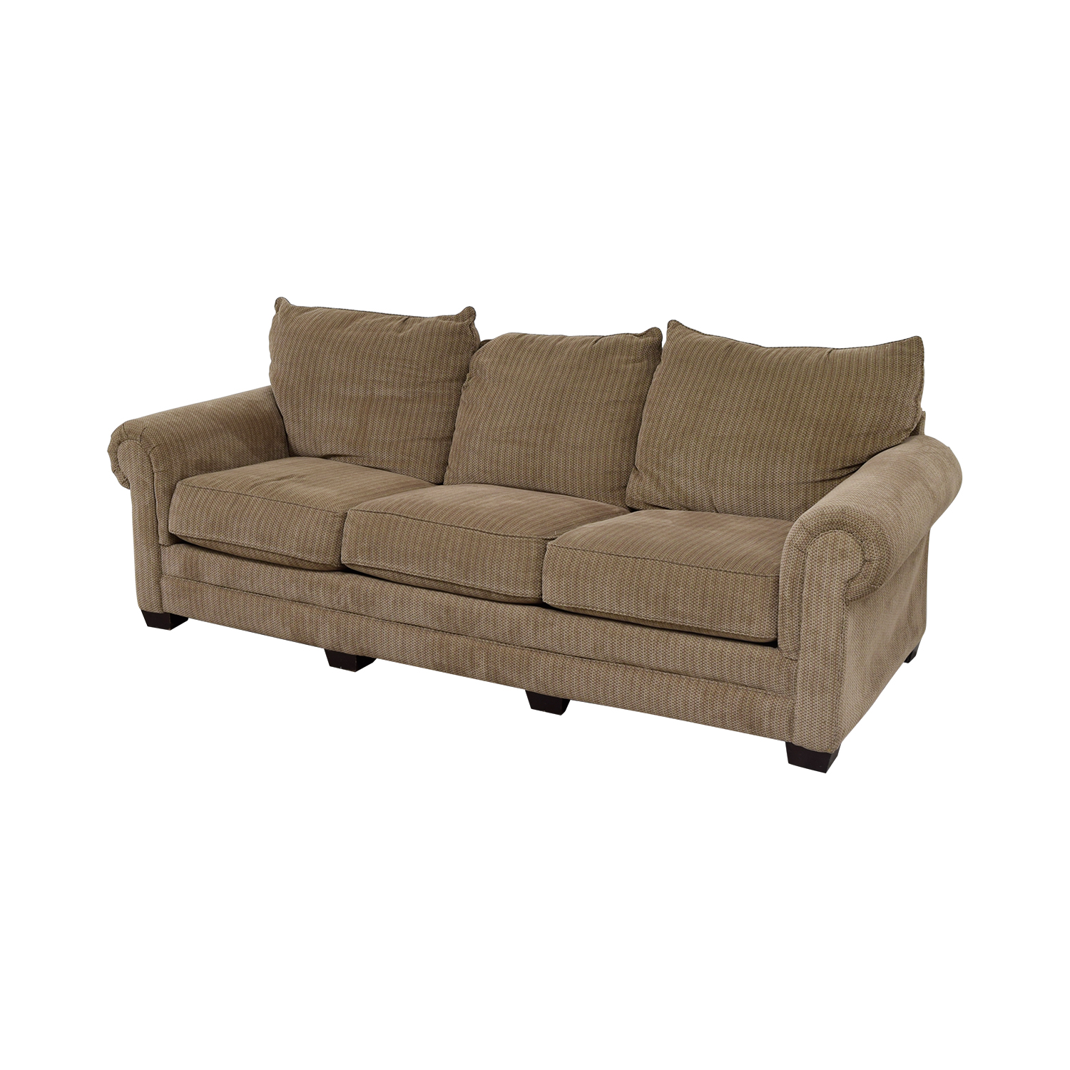 Tan Three-Cushion Couch discount