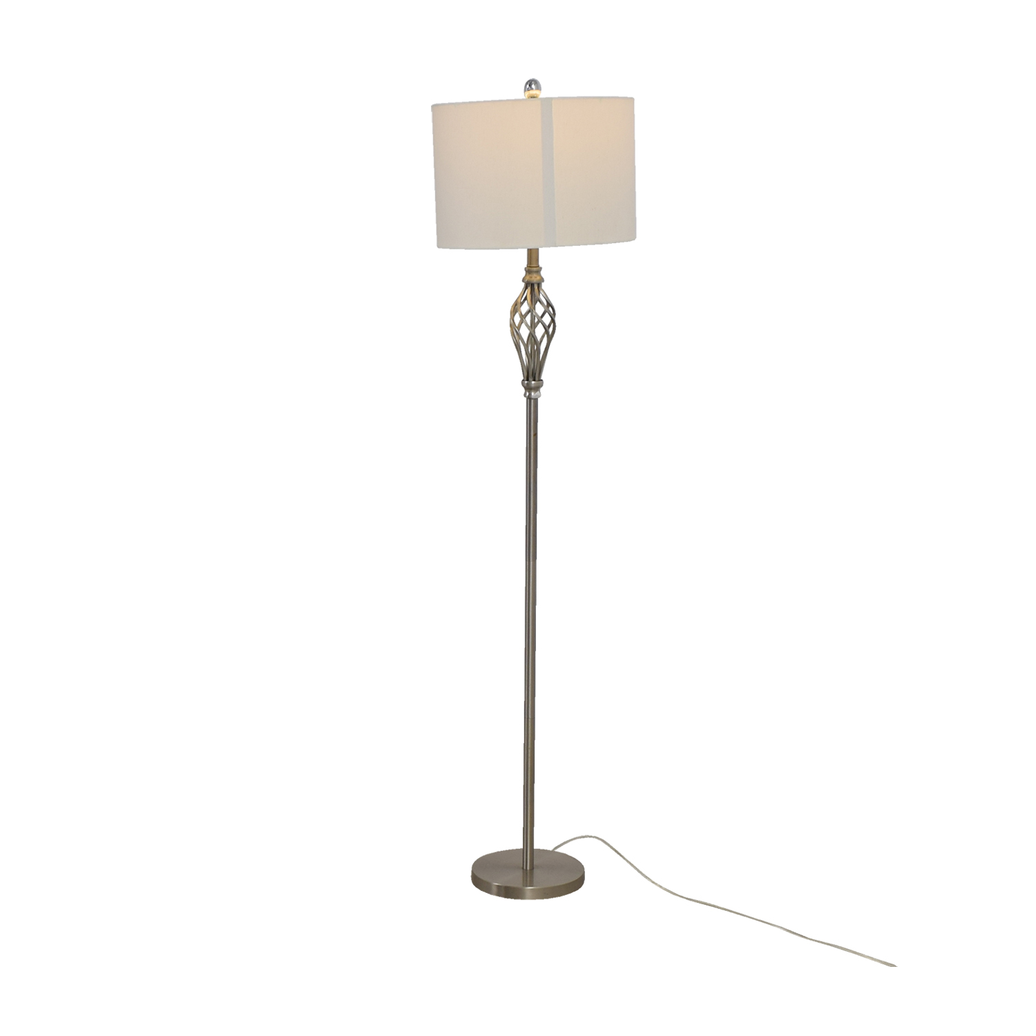 85 off silver decorative floor lamp decor silver decorative floor lamp on sale silver decorative floor lamp used aloadofball Image collections
