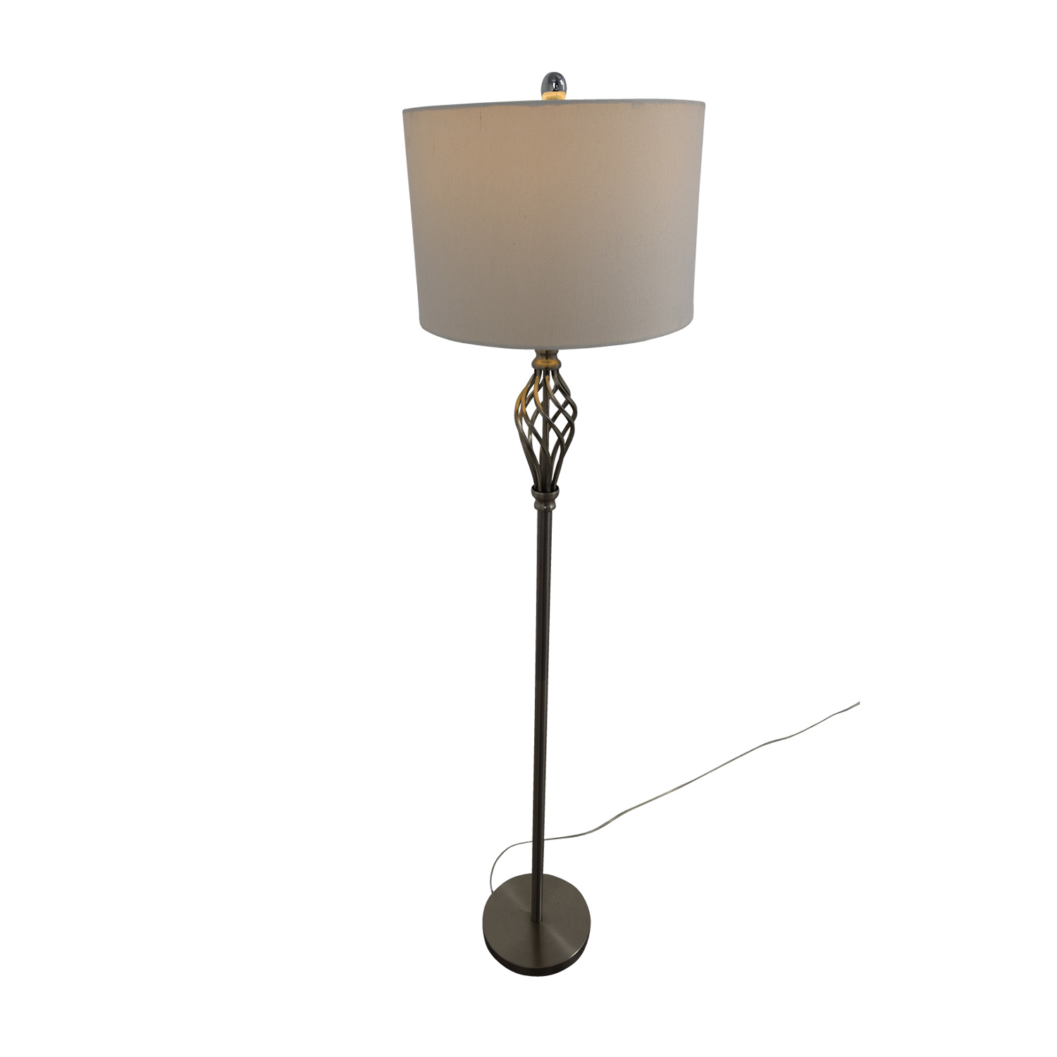 85 off silver decorative floor lamp decor for Ornate silver floor lamp