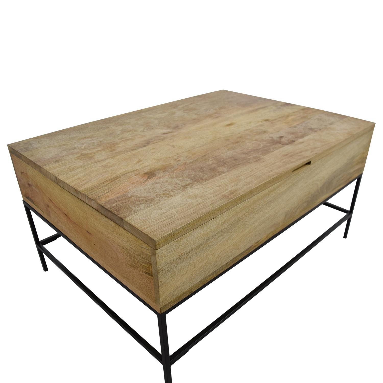 West Elm West Elm Rustic Wood Coffee Table / Tables