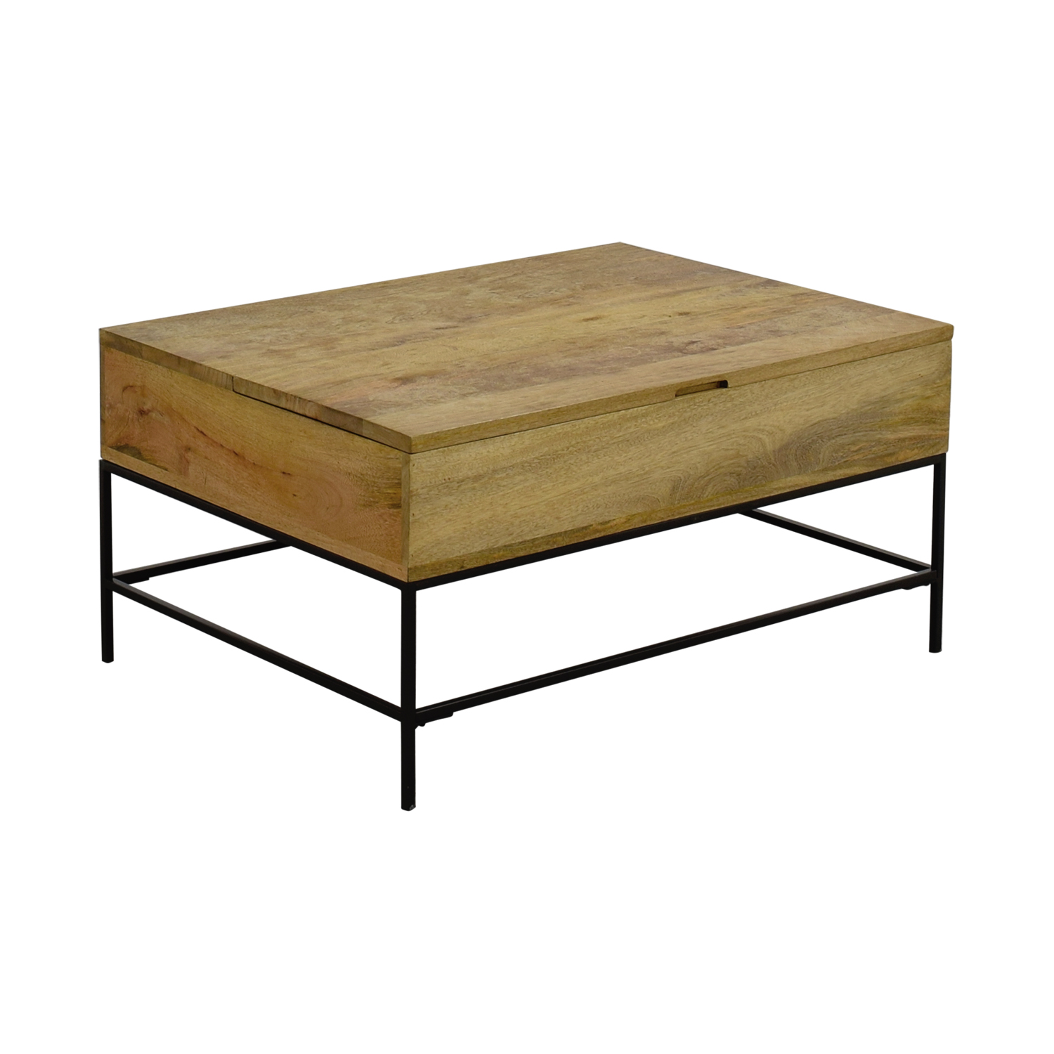 West Elm Stone Top Coffee Table: West Elm West Elm Rustic Wood Coffee Table / Tables