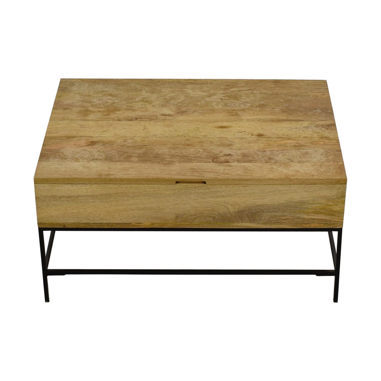 buy West Elm Rustic Wood Coffee Table West Elm