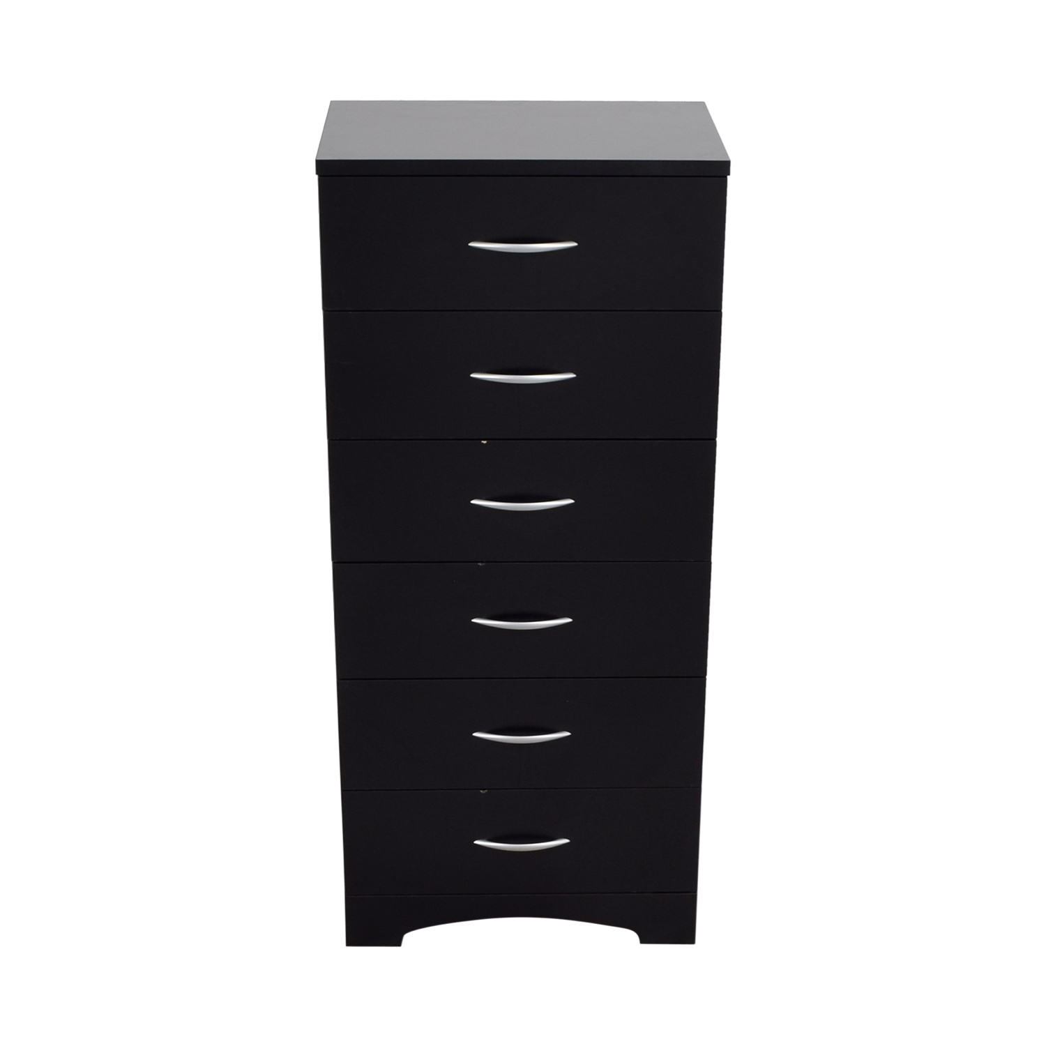 Black Six-Drawer Tall Dresser price