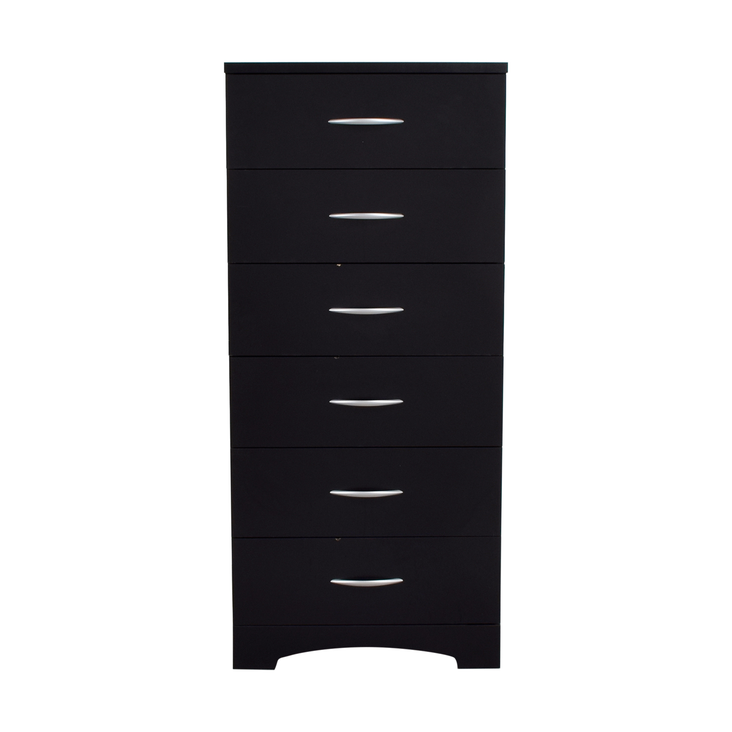Black Six-Drawer Tall Dresser nyc
