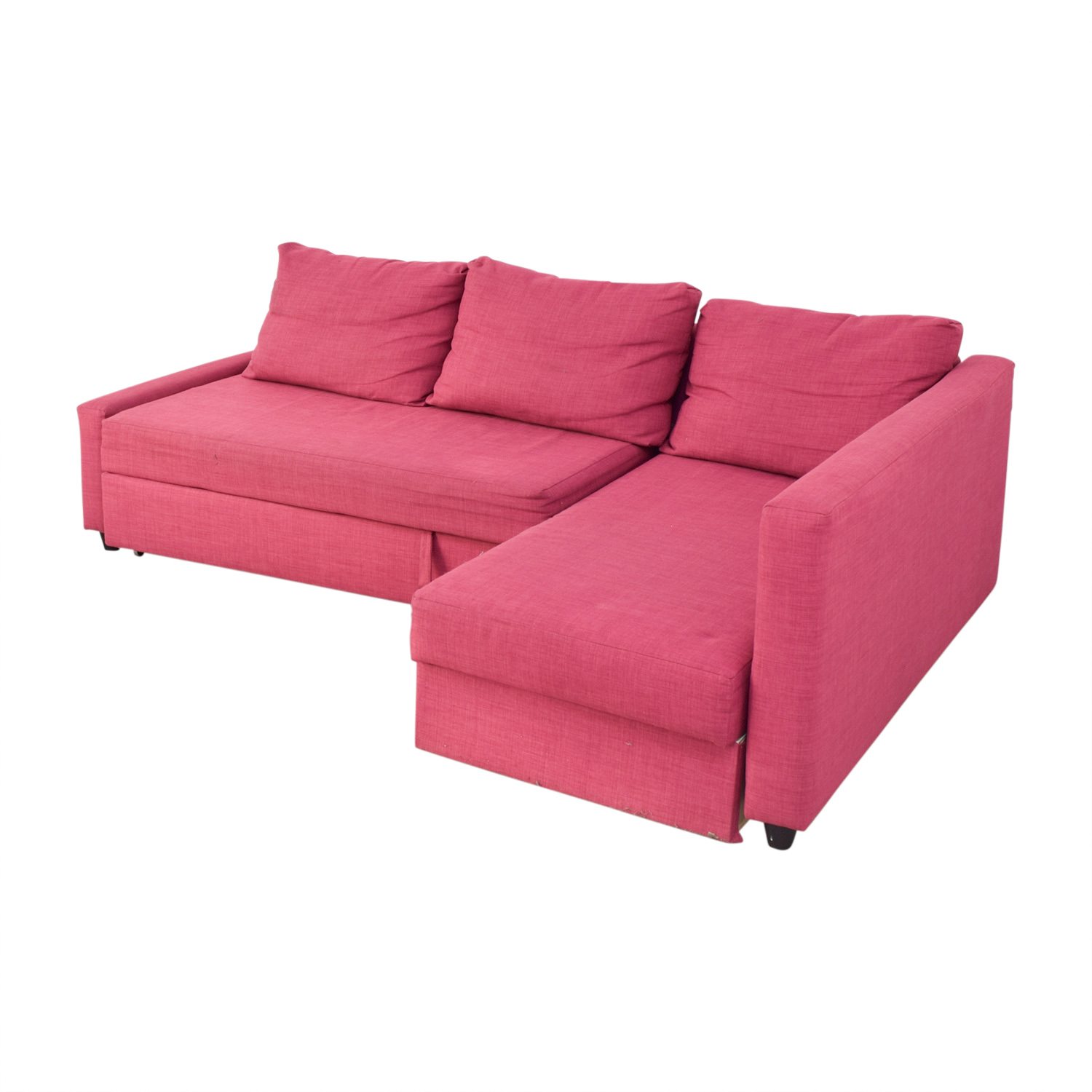 69 off ikea ikea pink kivik chaise sectional sofas for Chaise ikea