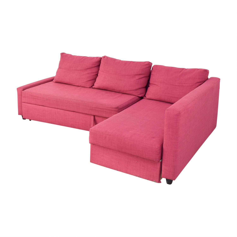 69 Off Ikea Ikea Pink Kivik Chaise Sectional Sofas