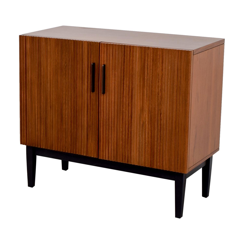 45 off west elm west elm wood bar cabinet storage for Elm furniture
