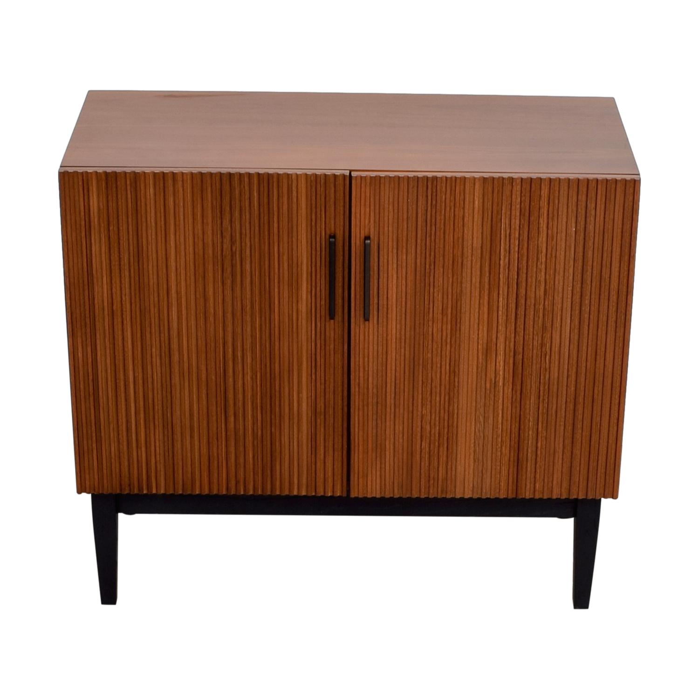 shop West Elm Wood Bar Cabinet West Elm Storage
