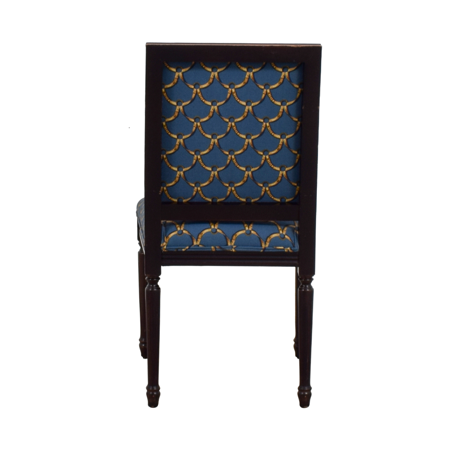 Ballard Designs Ballard Designs Blue and Gold Upholstered Side Chair used