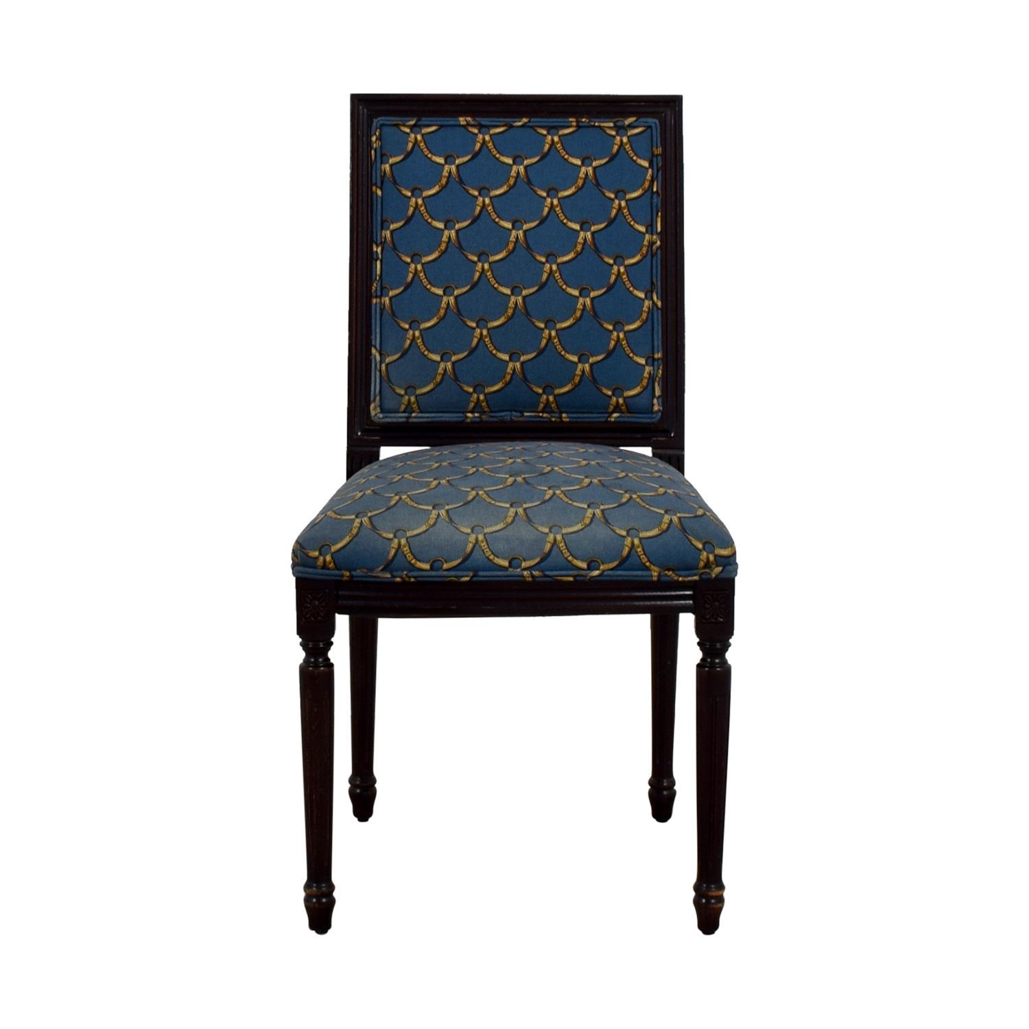 buy Ballard Designs Blue and Gold Upholstered Side Chair Ballard Designs Sofas