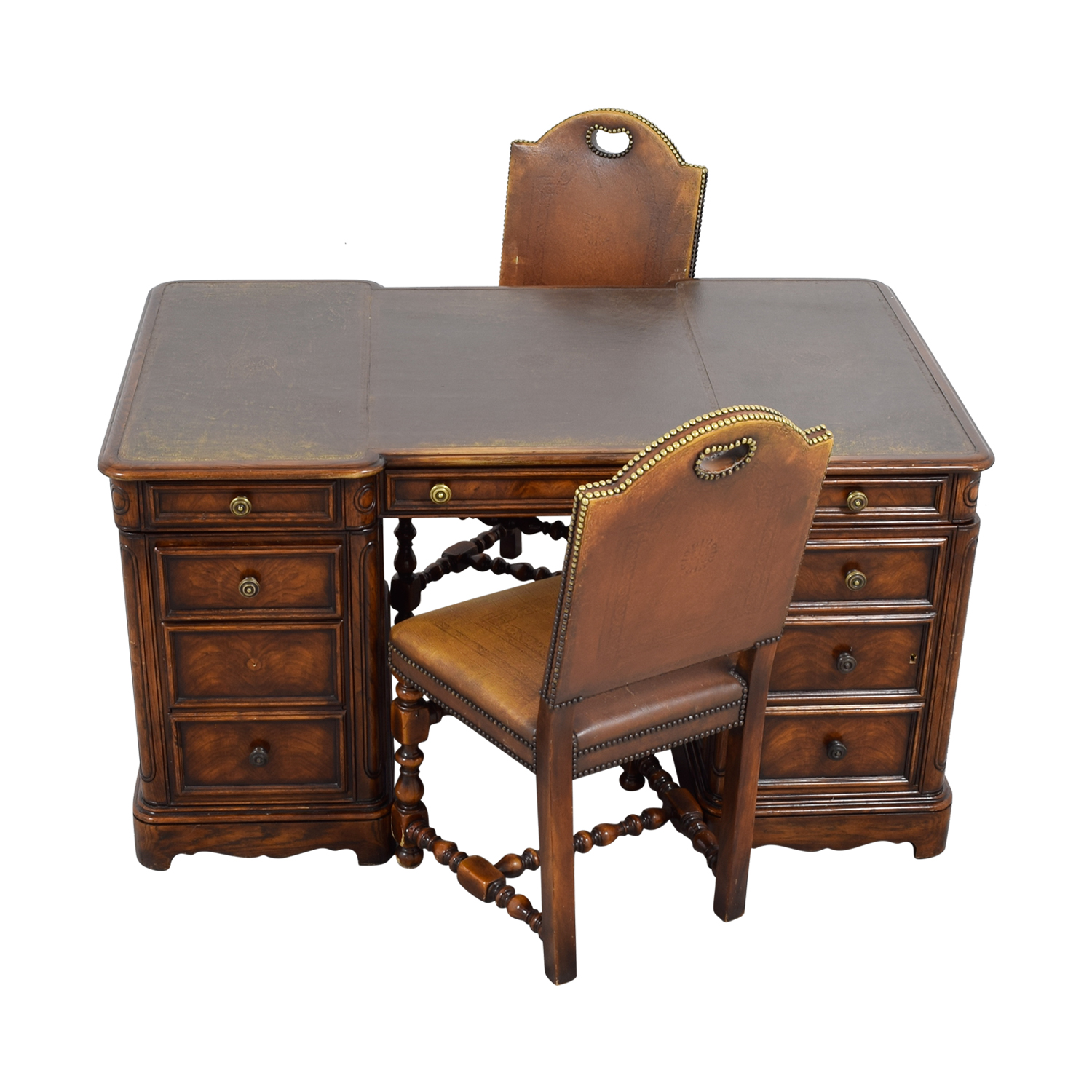 90% OFF   ABC Carpet U0026 Home ABC Carpet U0026 Home Two Sided Desk And Chairs /  Tables