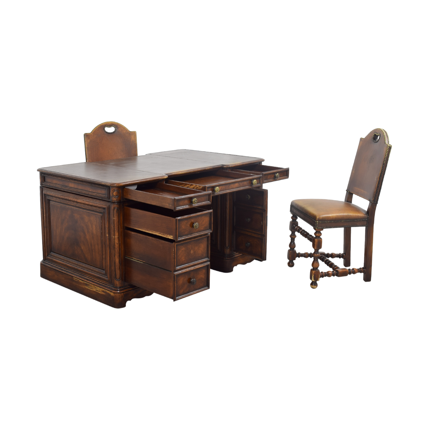 ... Buy ABC Carpet U0026 Home ABC Carpet U0026 Home Two Sided Desk And Chairs ...