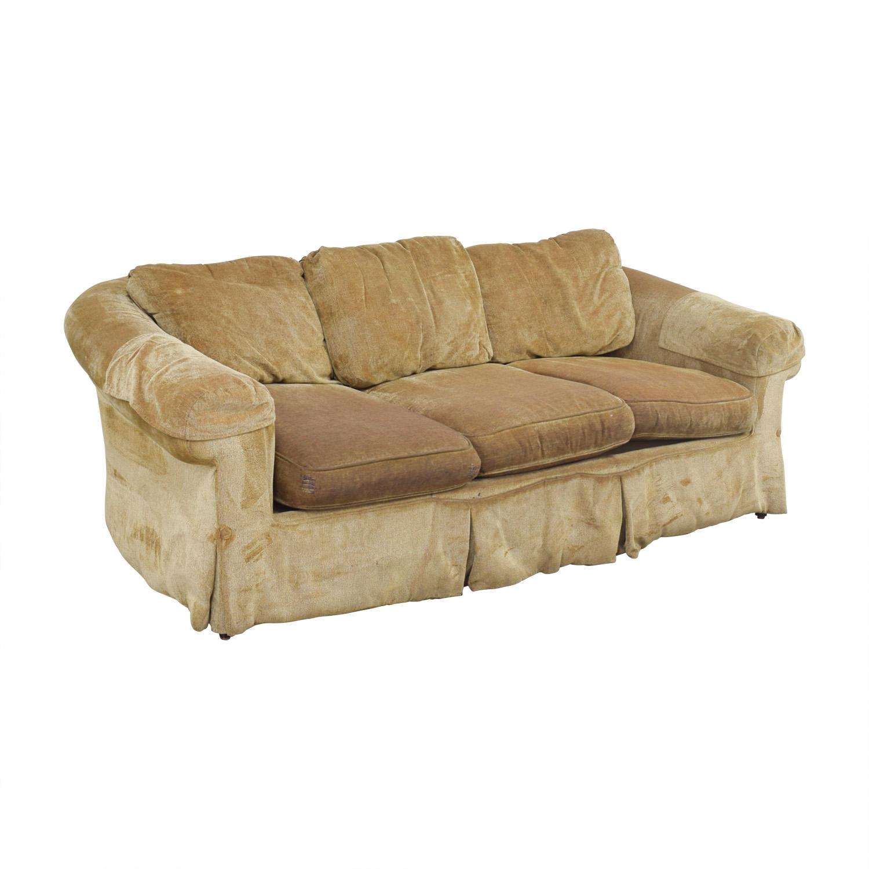 90 Off Bloomingdale S Bloomingdale S Tan Three Cushion